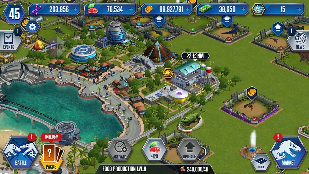 Help with jurassic world park builder archived topics gameguardian - Jurassic park builder decorations ...