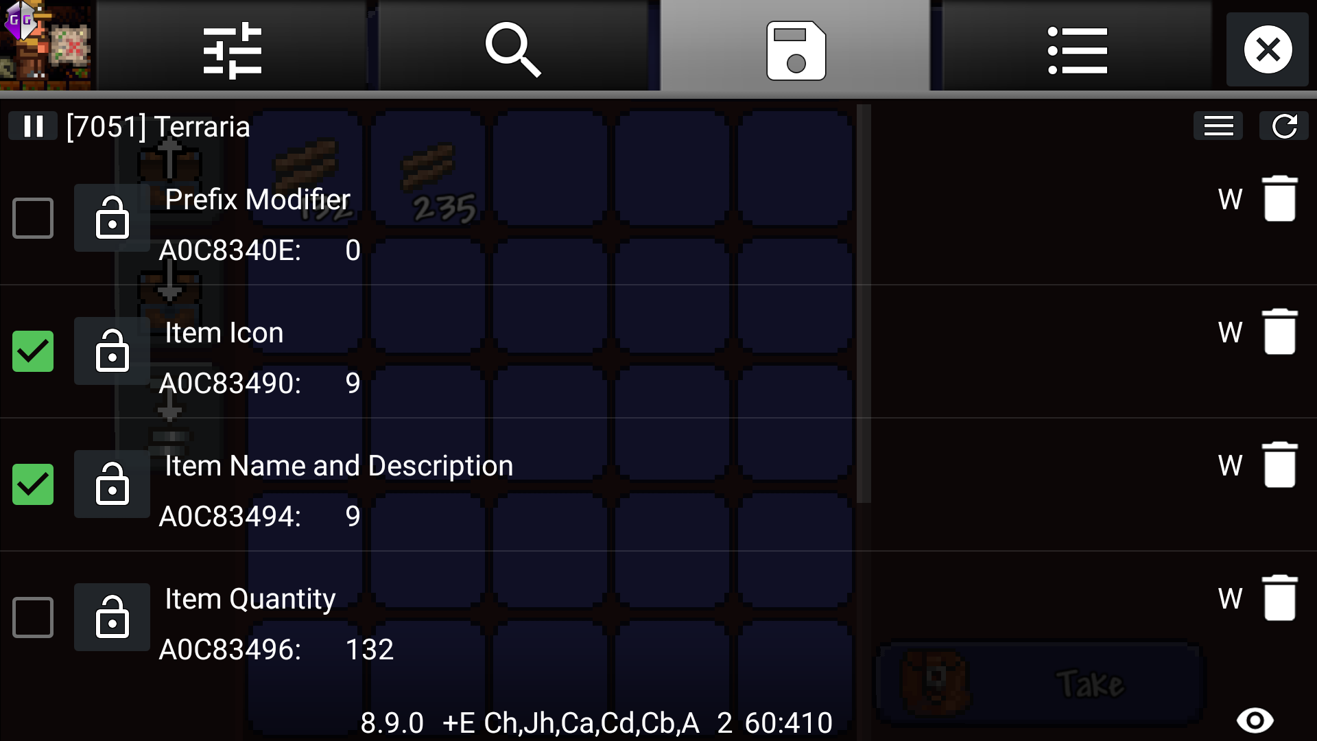 terraria android inventory editor